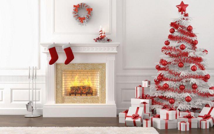 Living Room Christmas Decor 1013