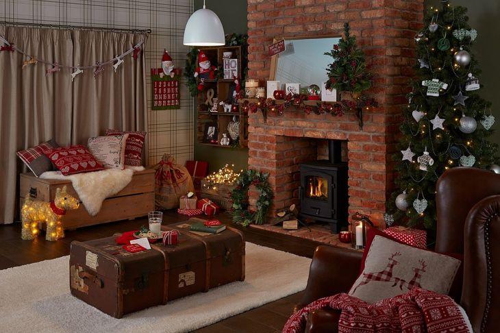 Living Room Christmas Decor 1019