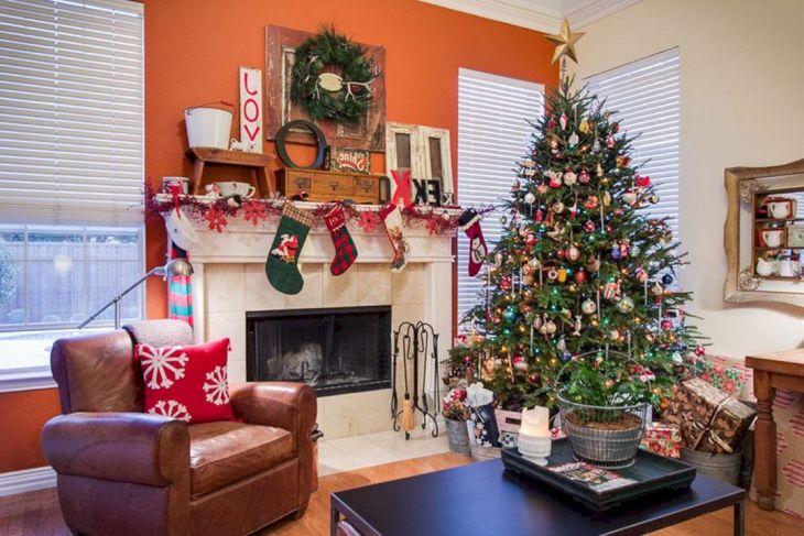 Living Room Christmas Decor 1021