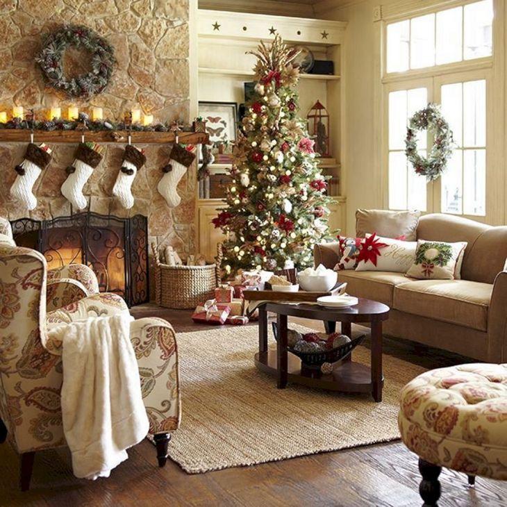 Living Room Christmas Decor 107