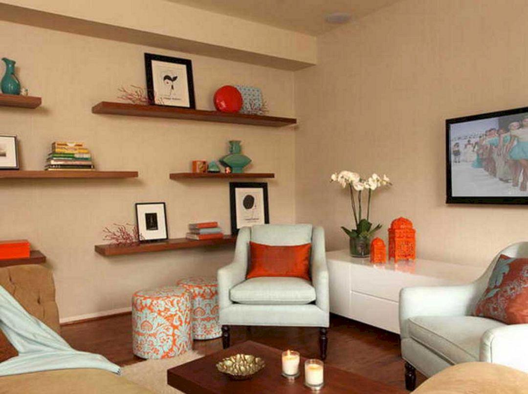 Living Room Floating Shelves Ideas 11