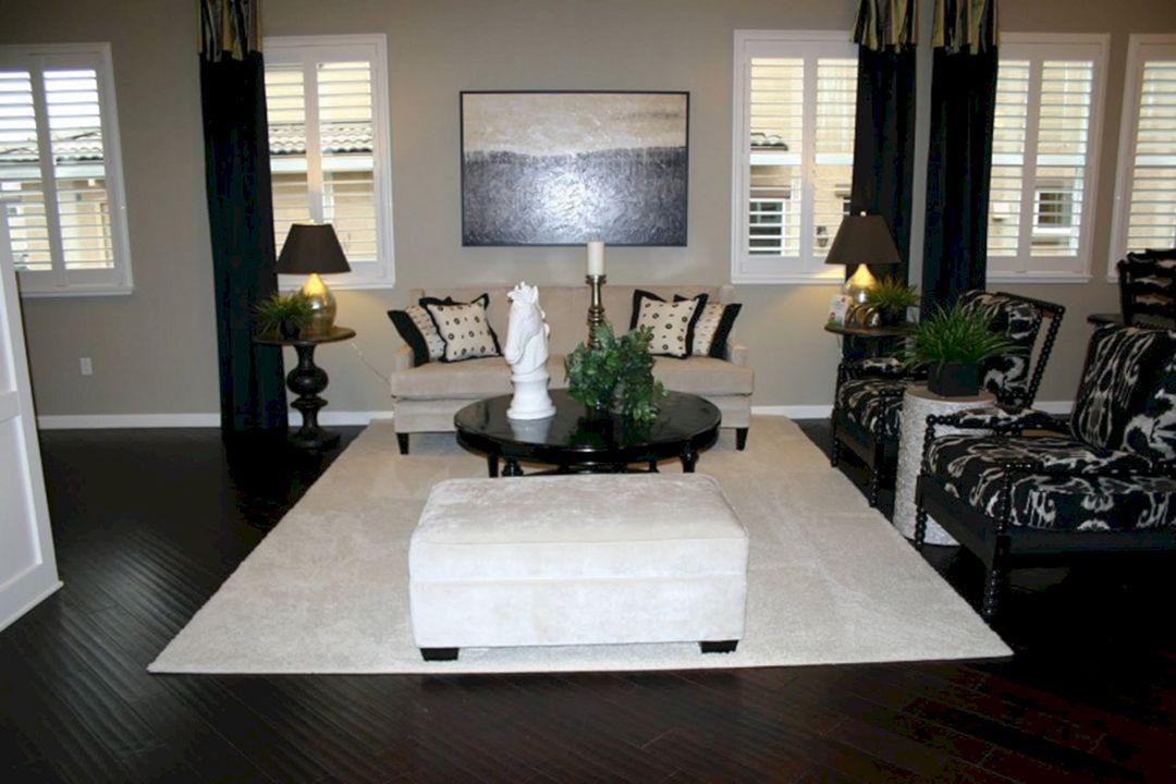 Living Room With Dark Wood Floors 100