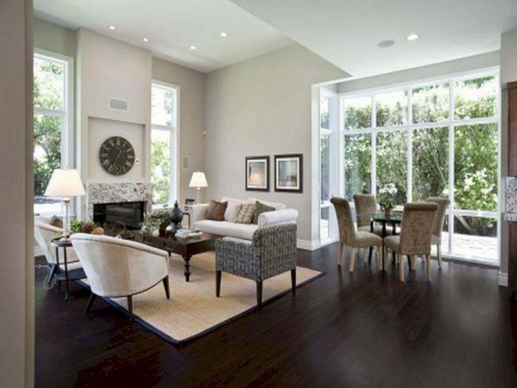 Living Room With Dark Wood Floors 140