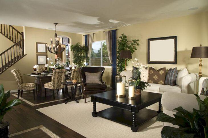 Living Room With Dark Wood Floors 20