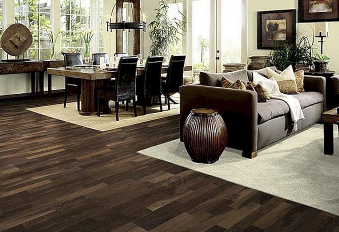 Living Room With Dark Wood Floors 200