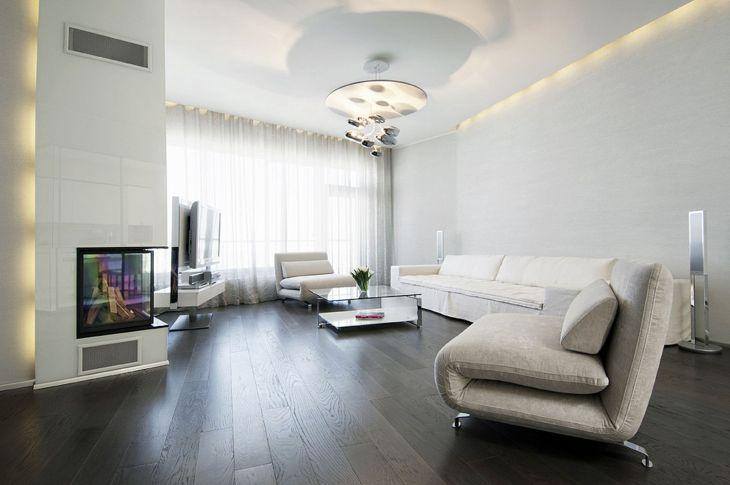 Living Room With Dark Wood Floors 50