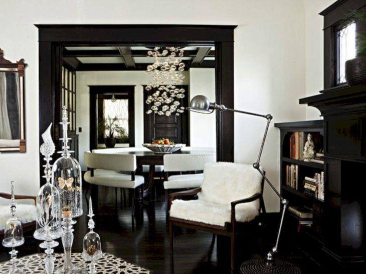Living Room With Dark Wood Floors 60