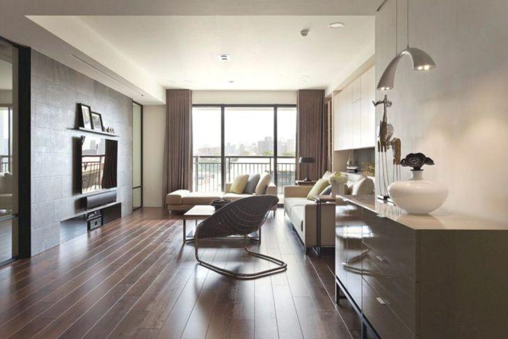Apartments Studio Design With Wood Floors
