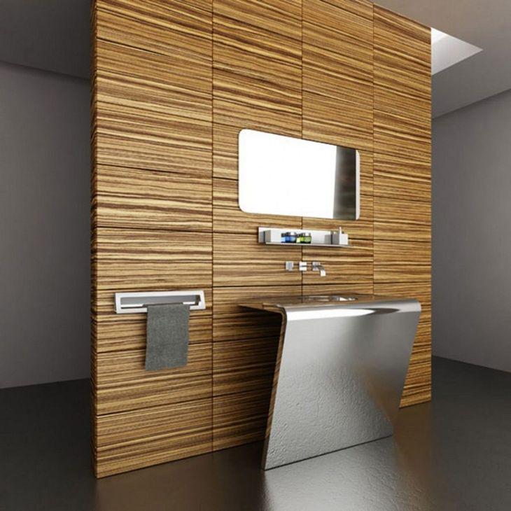 Bathroom Glass Design with Wood Ideas