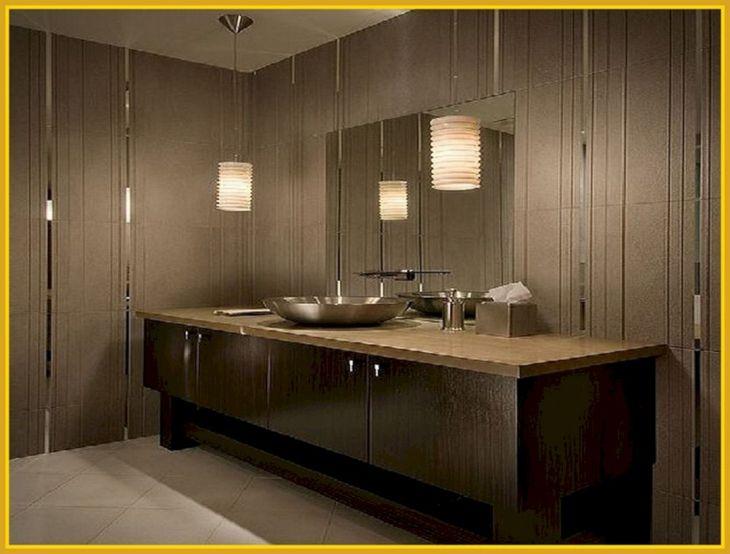 Beautiful Lighting Minimalist Bathroom Design 13