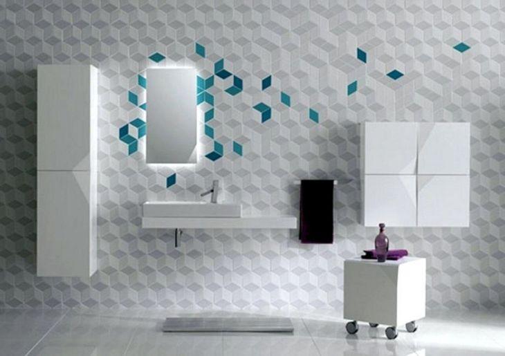 Ceramic Motifs For Minimalist Bathroom 9