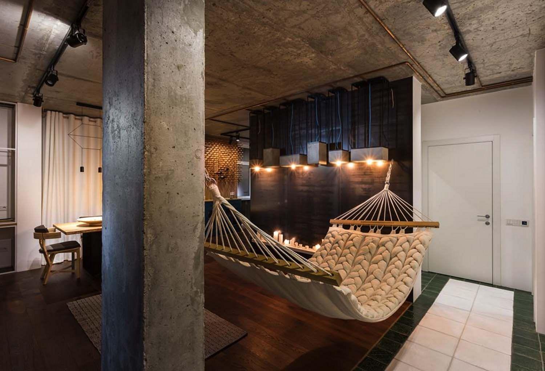 Cool Apartment Studio with Hammock Ideas