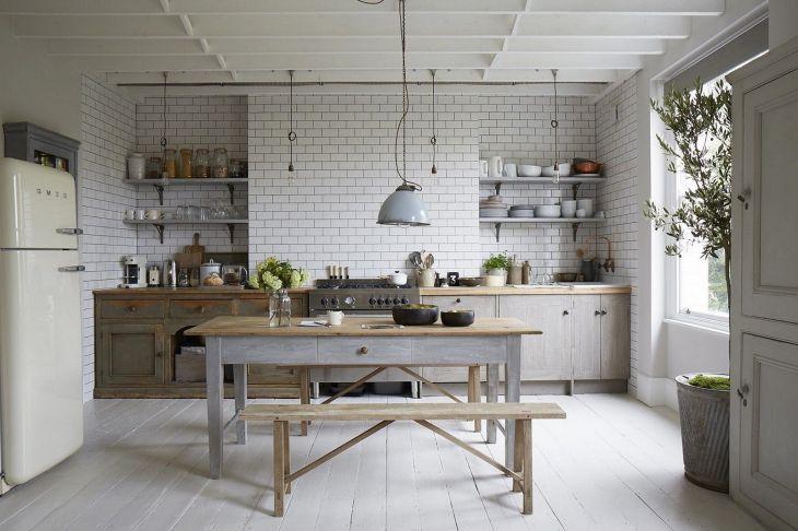 Kitchen Interiors With Vintage Style Floor