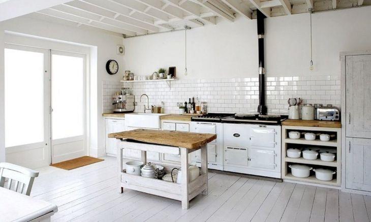 Kitchen Interiors With Vintage Style Floors