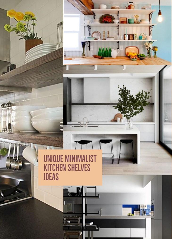 Minimalist Shelves Kitchen