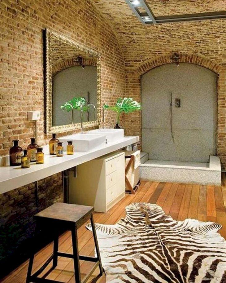 Brick Wall Bathroom Design Source dweef com