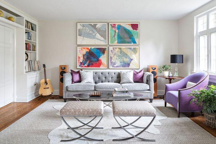 Bright Color Living Room Design Ideas