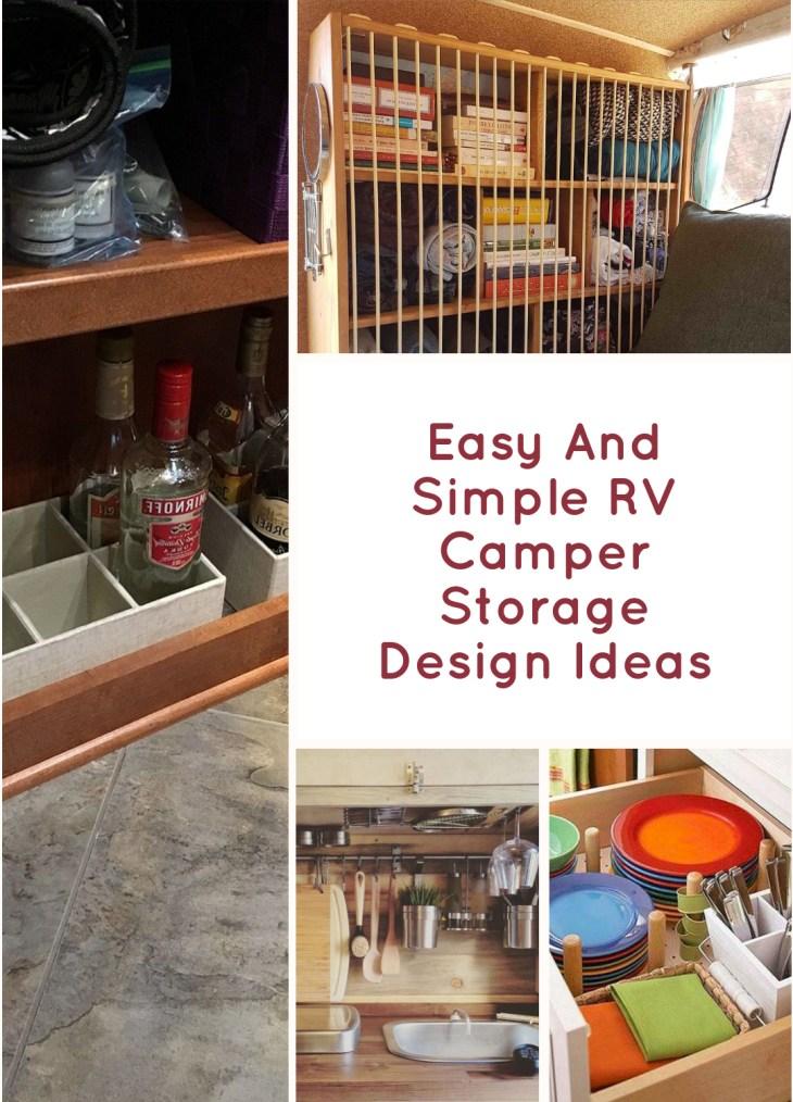 Easy And Simple RV Camper Storage Design Ideas