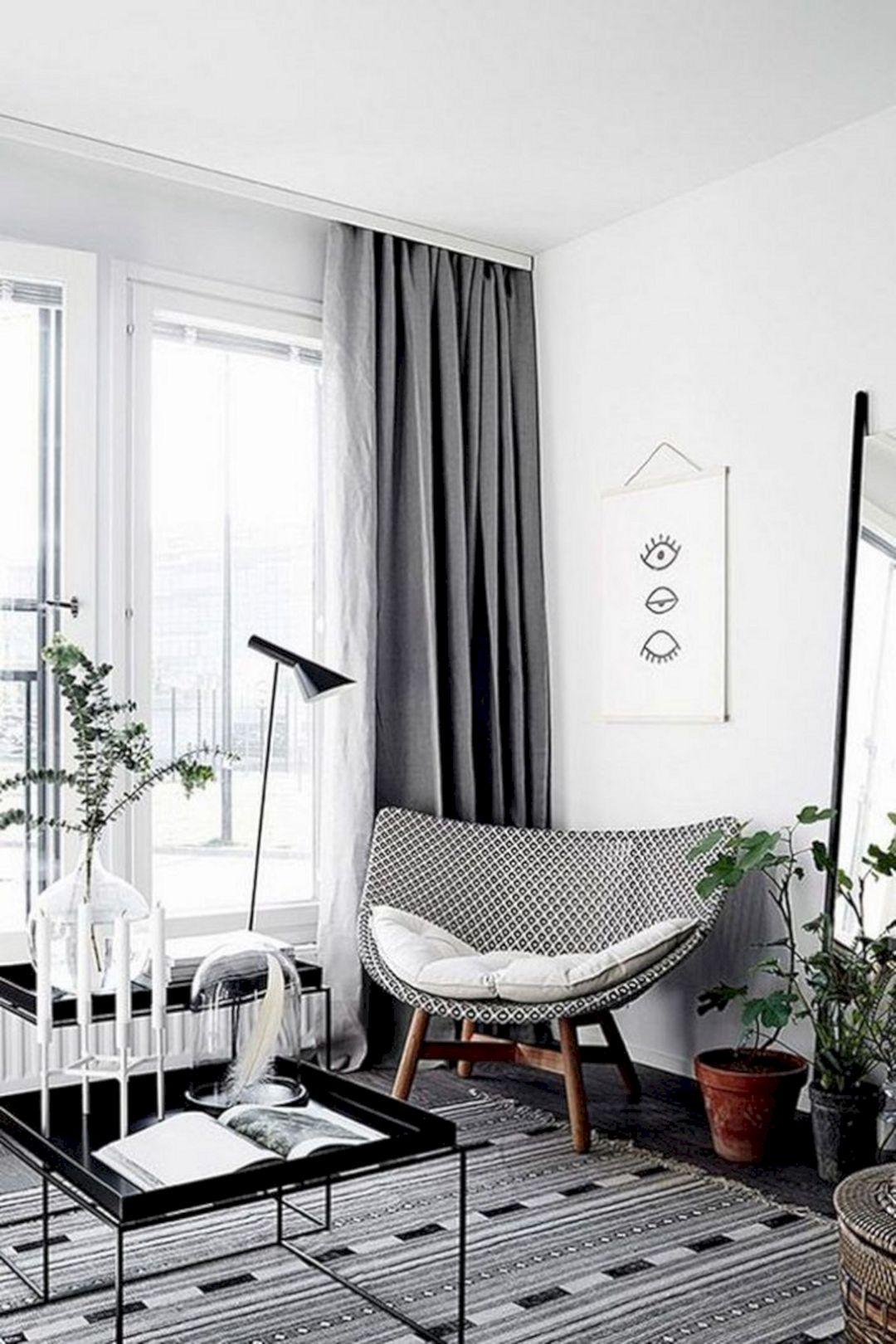 Minimalist Monochrome Curtain Ideas