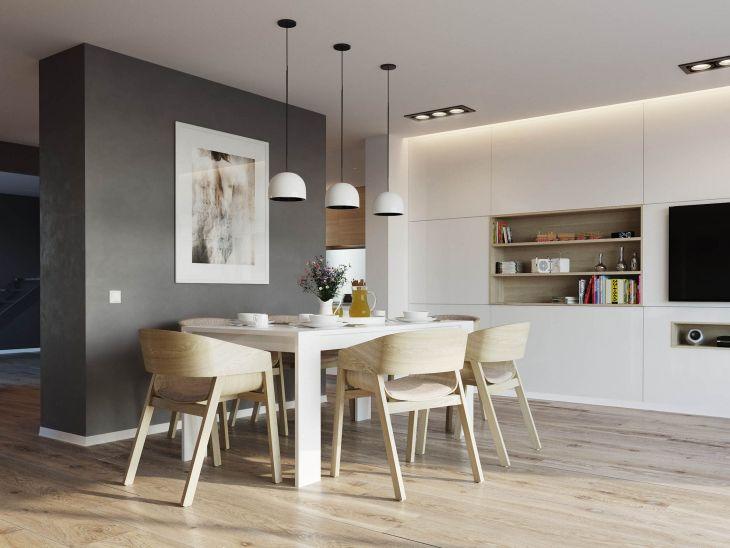 Scandinavian simple dining room design 02