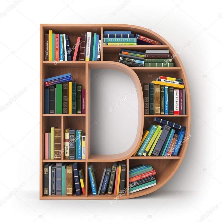 Unique Bookshelf Form The Letter source depositphotos com