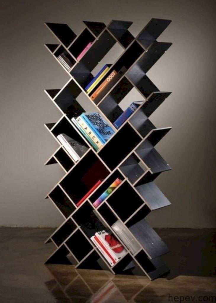 Unique Bookshelf Form The Letter source ideaboomer com