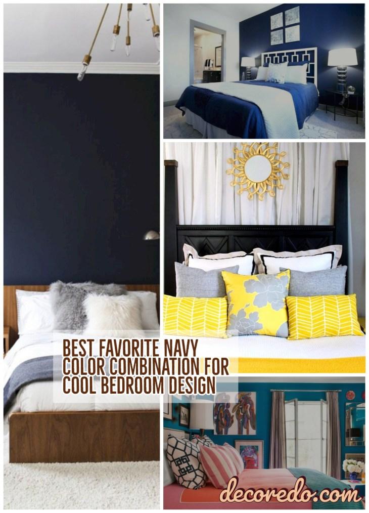 Best Favorite Navy Color Combination For Cool Bedroom Design