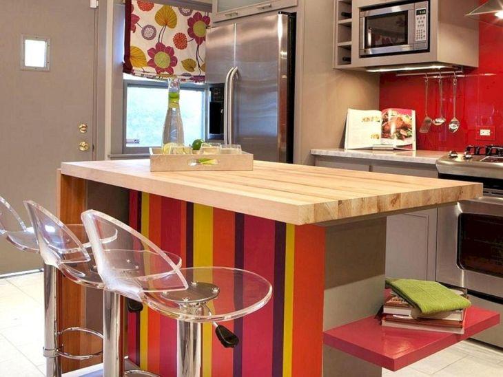 Color Kitchen Island Design Ideas