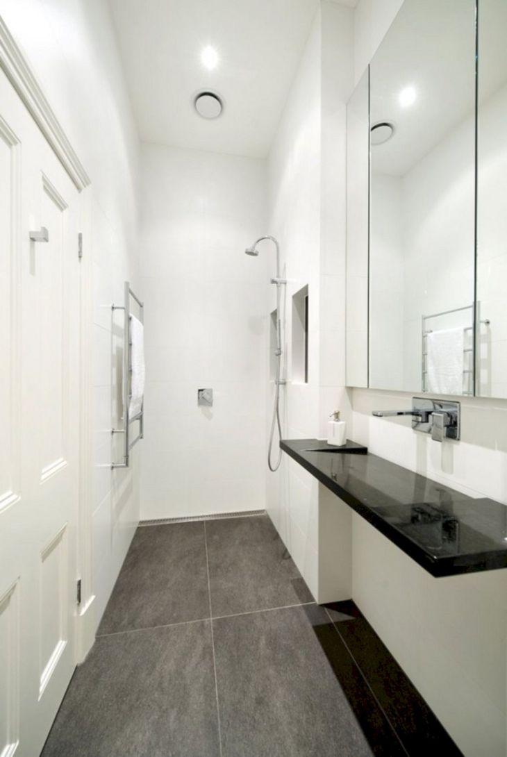 Modern White TIny Bathroom
