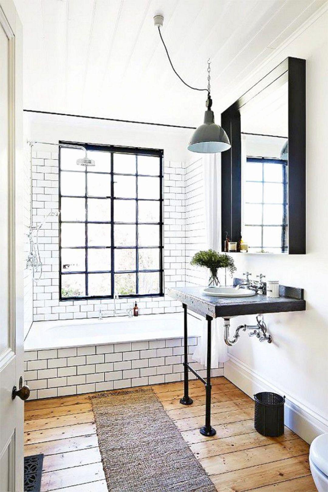 Tiny Bathroom With Industrial