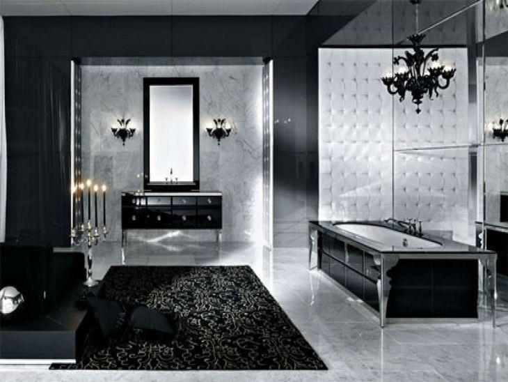 Black Bathroom Design Ghotic