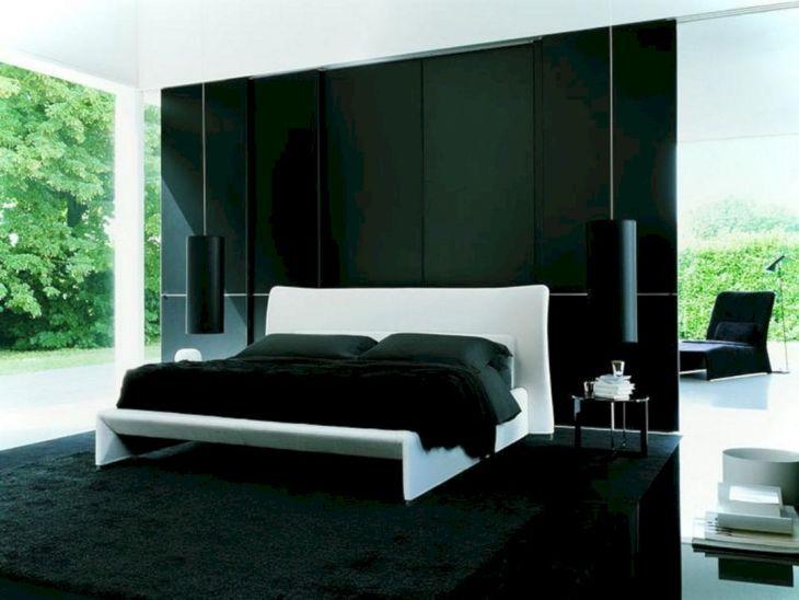 Black Wall For Bedroom Design