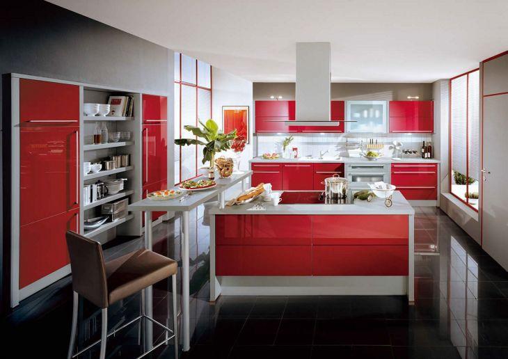 Fantastic Red Kitchen Design