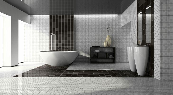 Modern Bathroom Ceramic Motif