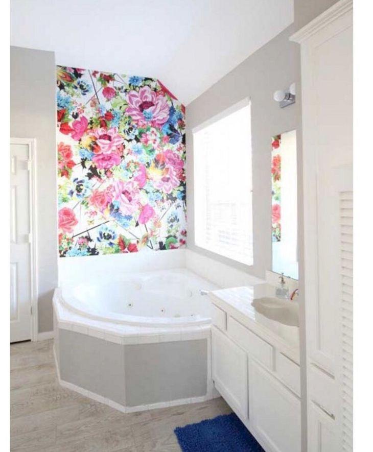 Wall Flower Bathroom Ideas