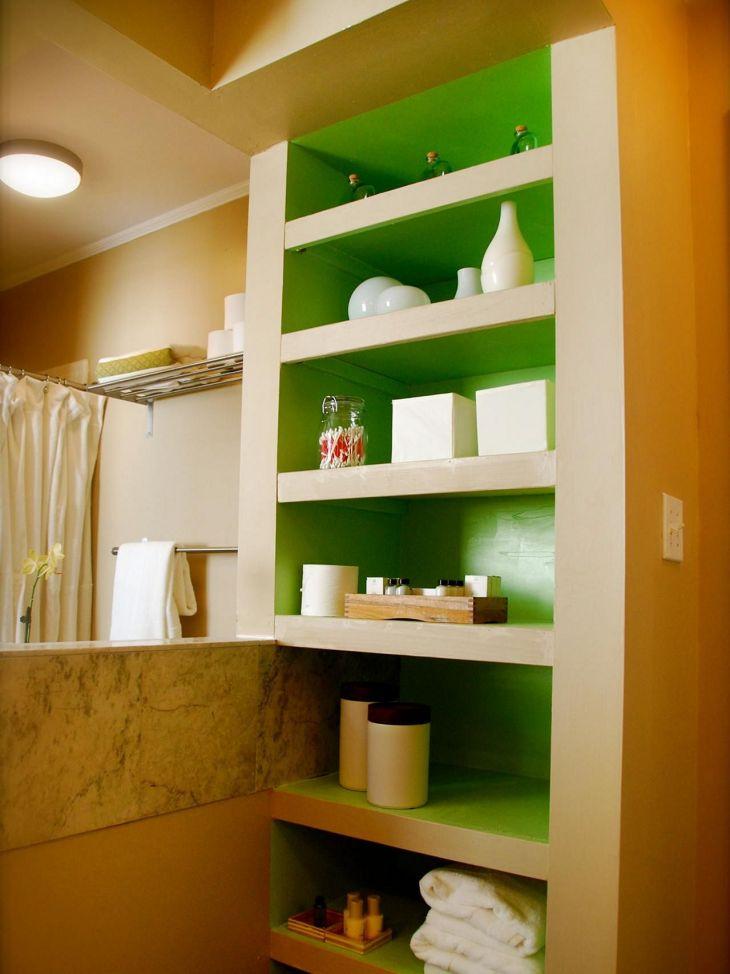 Bathroom Shelves Organization