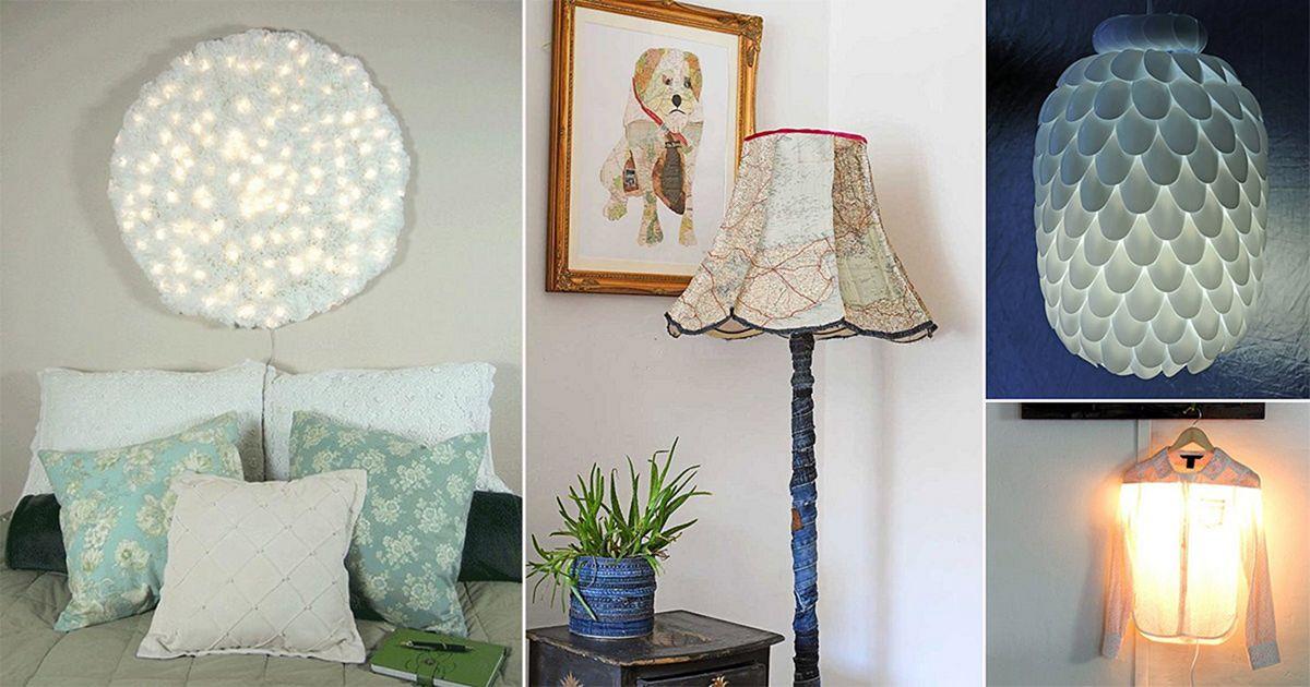 Cool DIY Homemade Lamp Ideas
