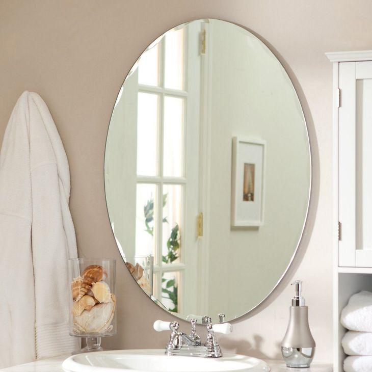 Frameless Bathroom Mirror Ideas