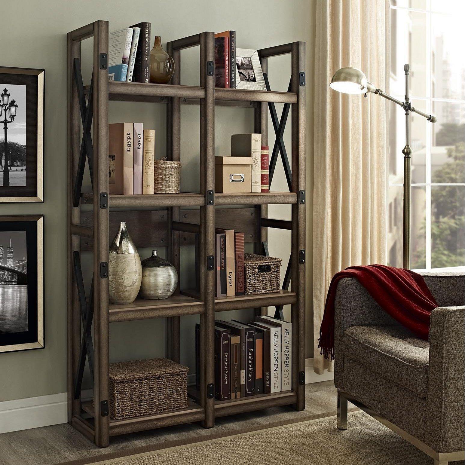 Industrial Bookcase Design Ideas