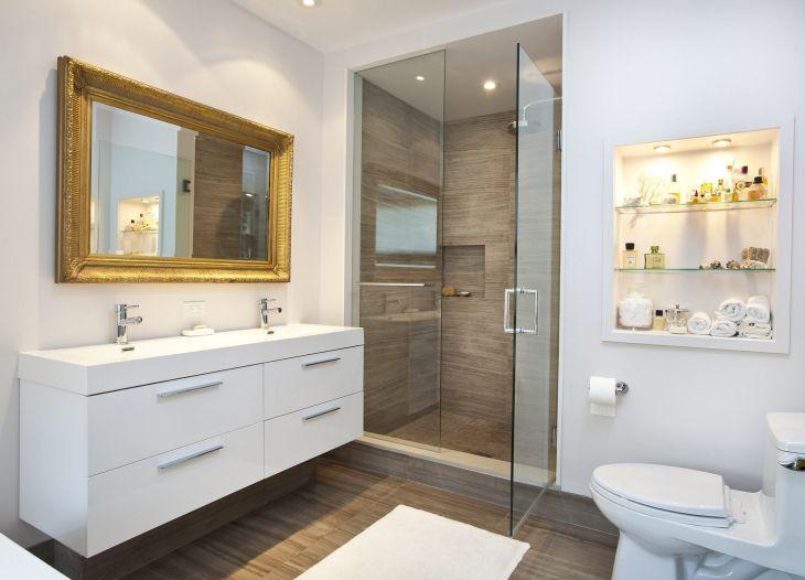 Modern Sink With Bathroom Mirror