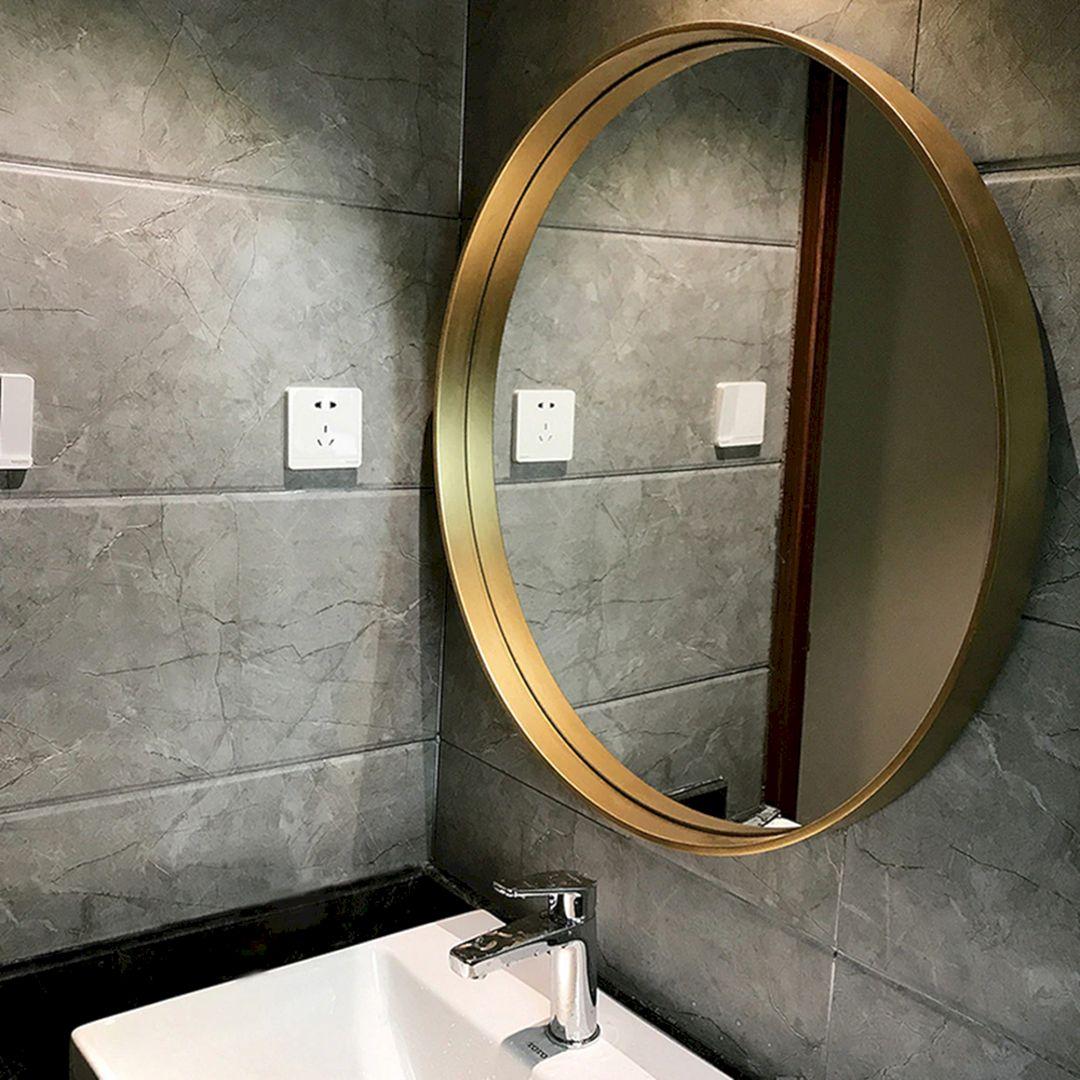 Nordic Bathroom Mirror Wall Ideas