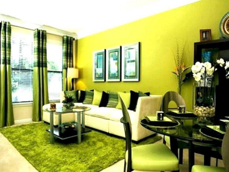 Green Curtain Living Room Ideas