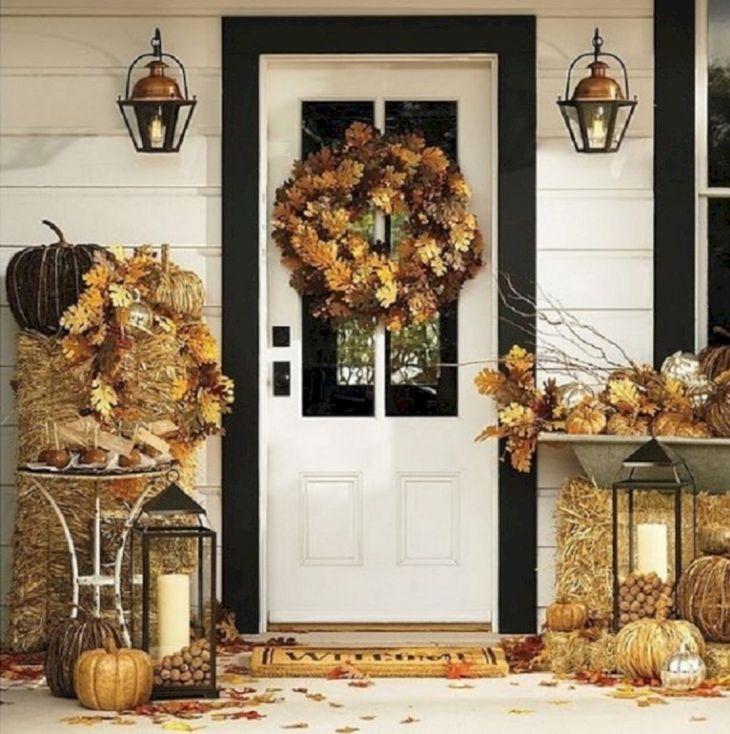 White Fall Front Door Design