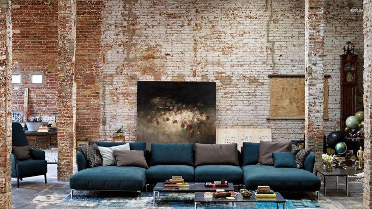 Best Living Room Brick Wall Ideas