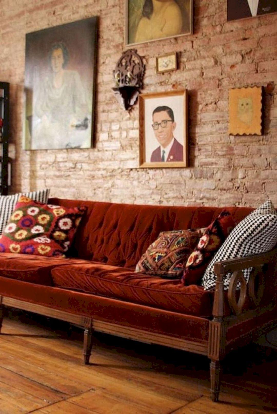 Lovely Brick Wall Living Room Ideas