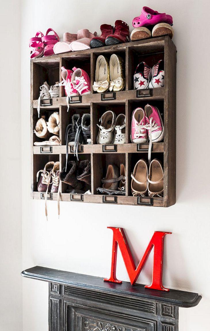 Cute Wall Shoe Storage Ideas