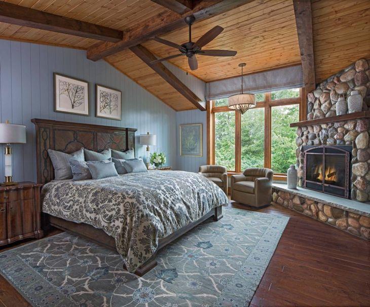 Harika Rustik Yatak Odası Tasarımı