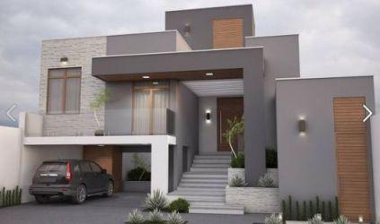 casa cinza fachadas fachada madeira casas detalhes compoem contemporanea