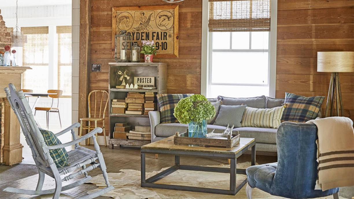 Country Style Living Room Furniture Ideas 1