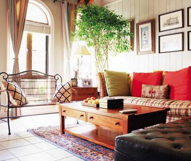 Country Style Living Room Furniture Ideas 30